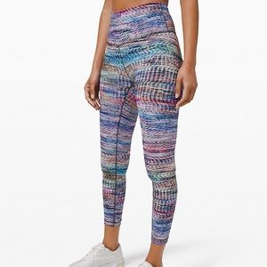 "Lululemon Digital Oasis Wunder Train HR 25"" Length"